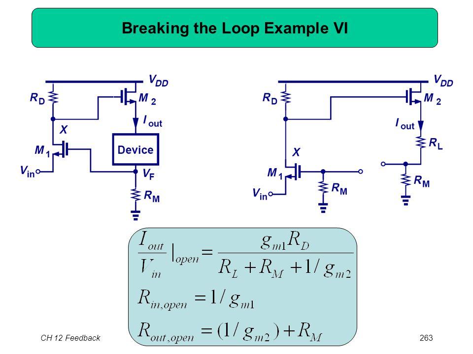 CH 12 Feedback263 Breaking the Loop Example VI