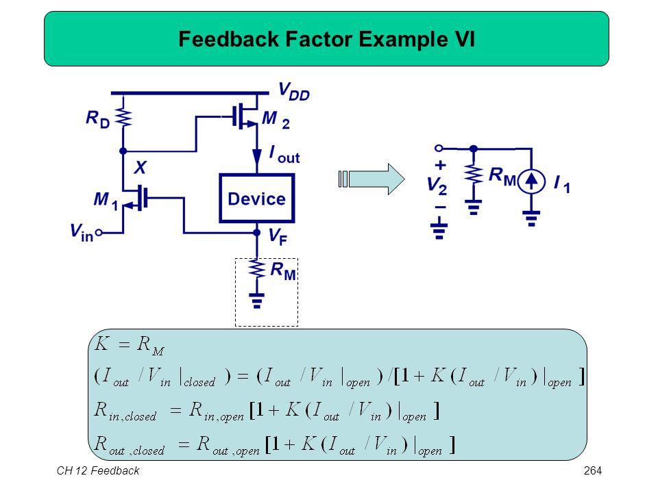 CH 12 Feedback264 Feedback Factor Example VI