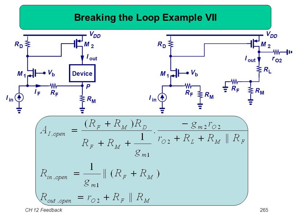 CH 12 Feedback265 Breaking the Loop Example VII