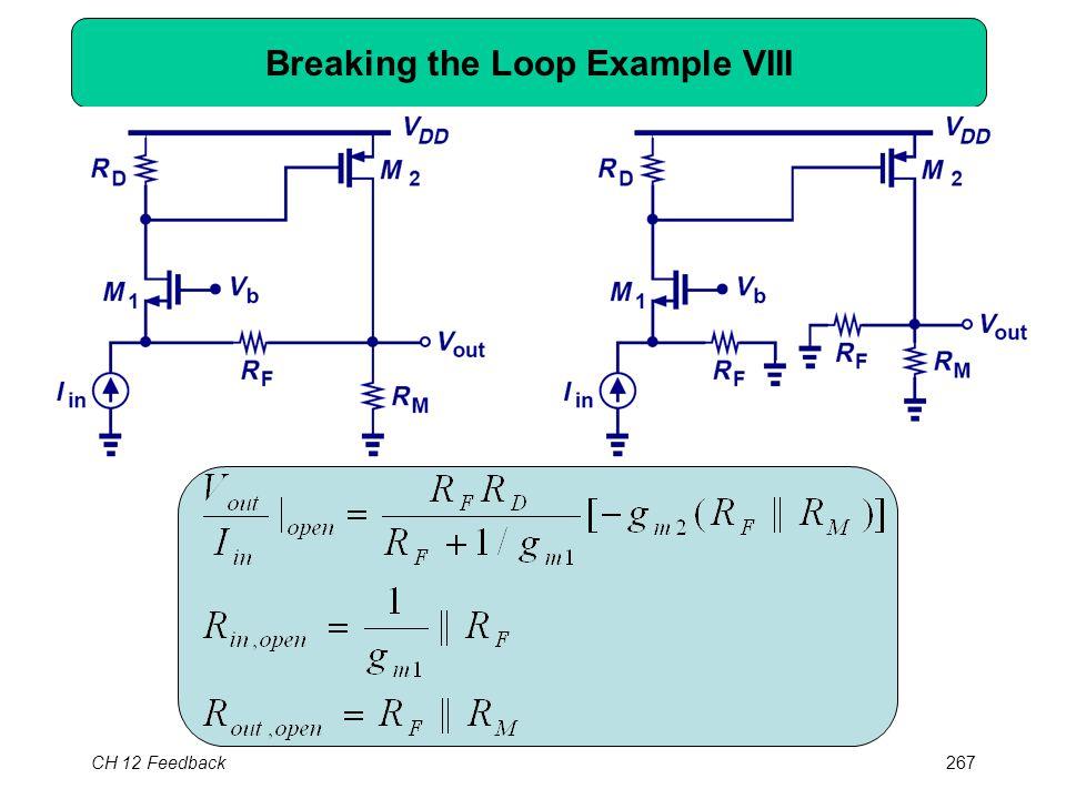 CH 12 Feedback267 Breaking the Loop Example VIII