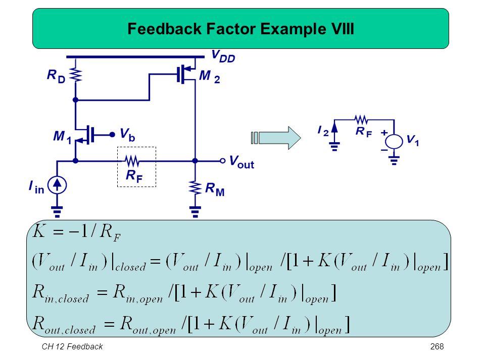 CH 12 Feedback268 Feedback Factor Example VIII
