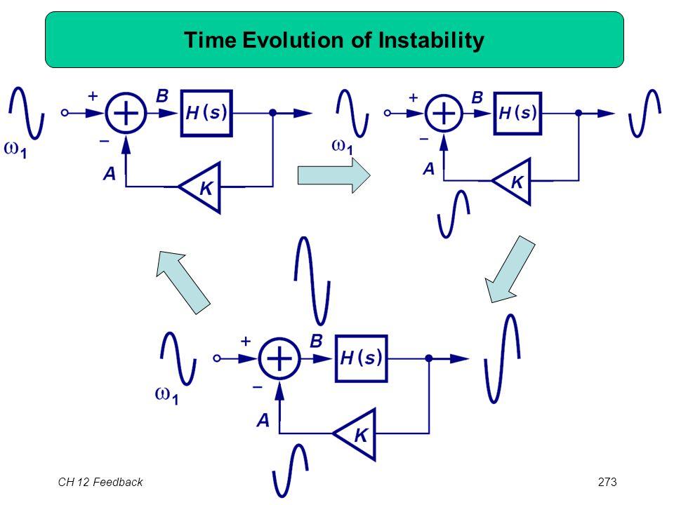 CH 12 Feedback273 Time Evolution of Instability