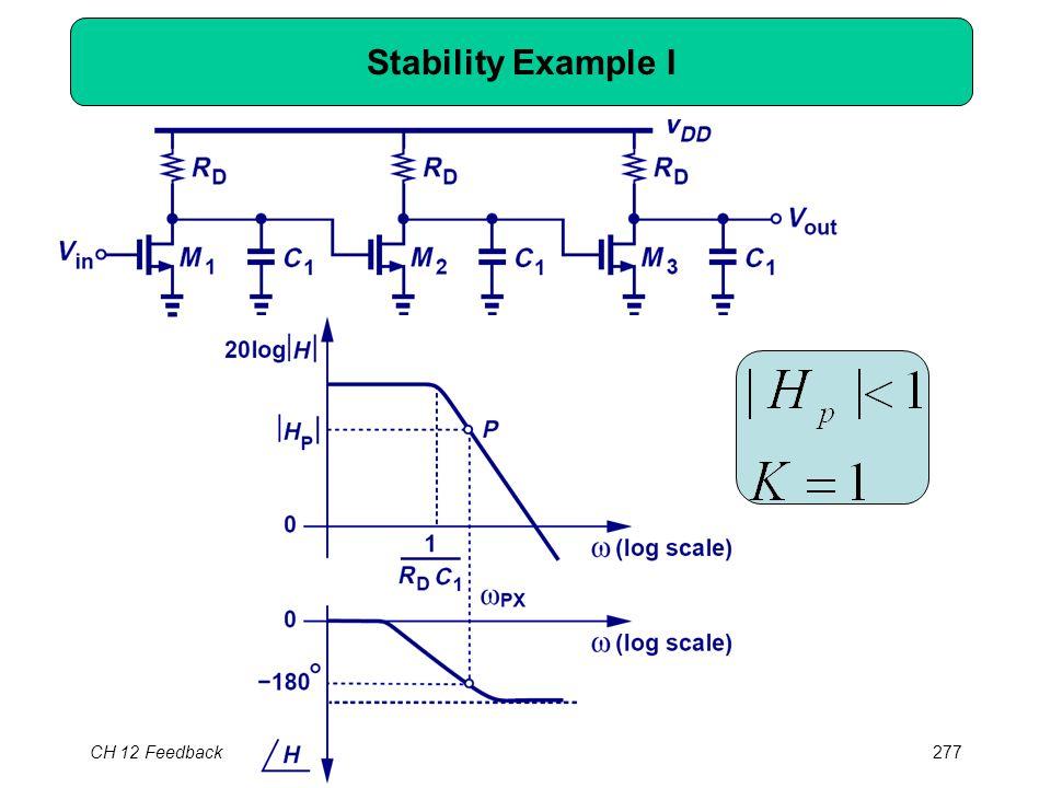 CH 12 Feedback277 Stability Example I