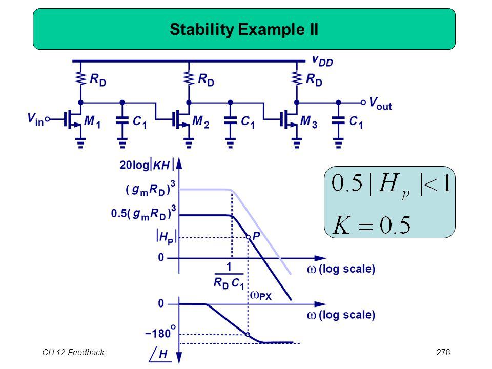 CH 12 Feedback278 Stability Example II
