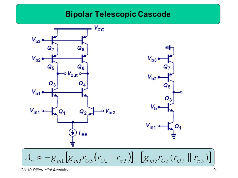 CH 10 Differential Amplifiers91 Bipolar Telescopic Cascode