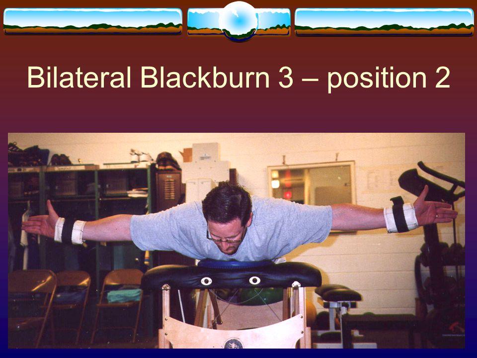 Bilateral Blackburn 3 – position 2