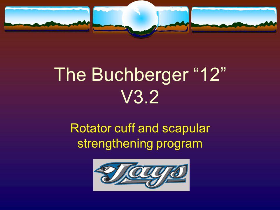 "The Buchberger ""12"" V3.2 Rotator cuff and scapular strengthening program"