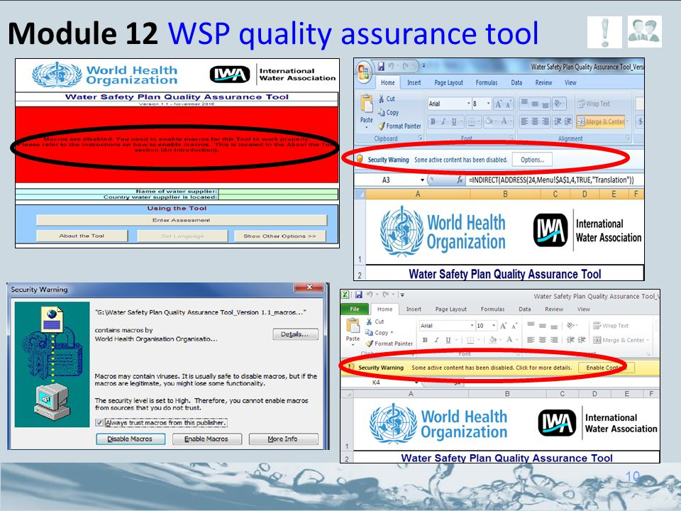 Module 12 WSP quality assurance tool 10
