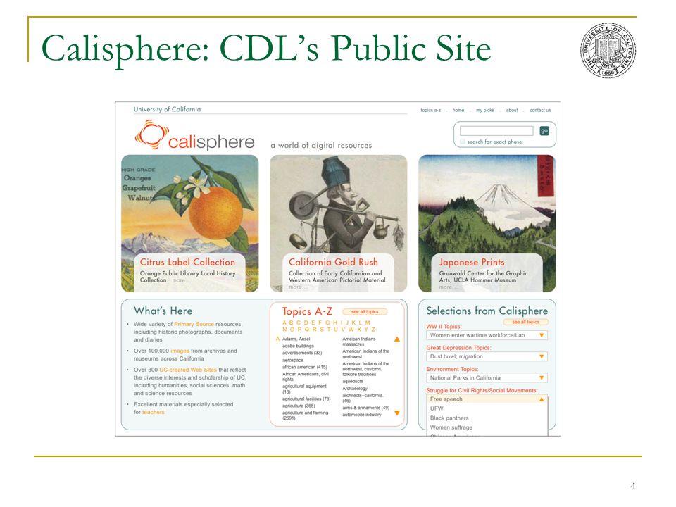 4 Calisphere: CDL's Public Site