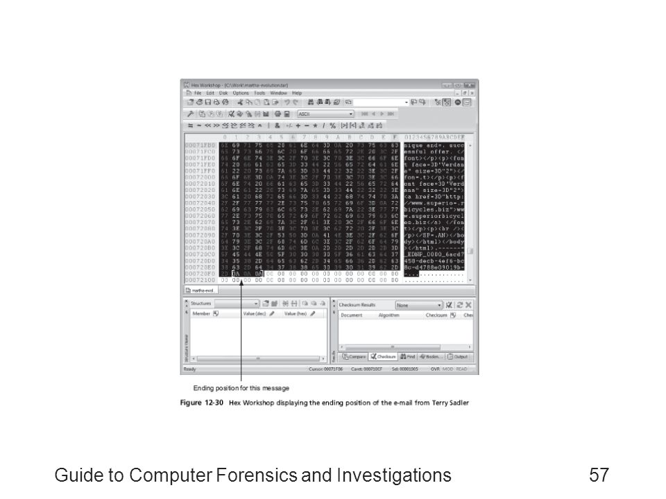 Guide to Computer Forensics and Investigations57