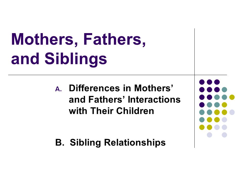 Mothers, Fathers, and Siblings A.