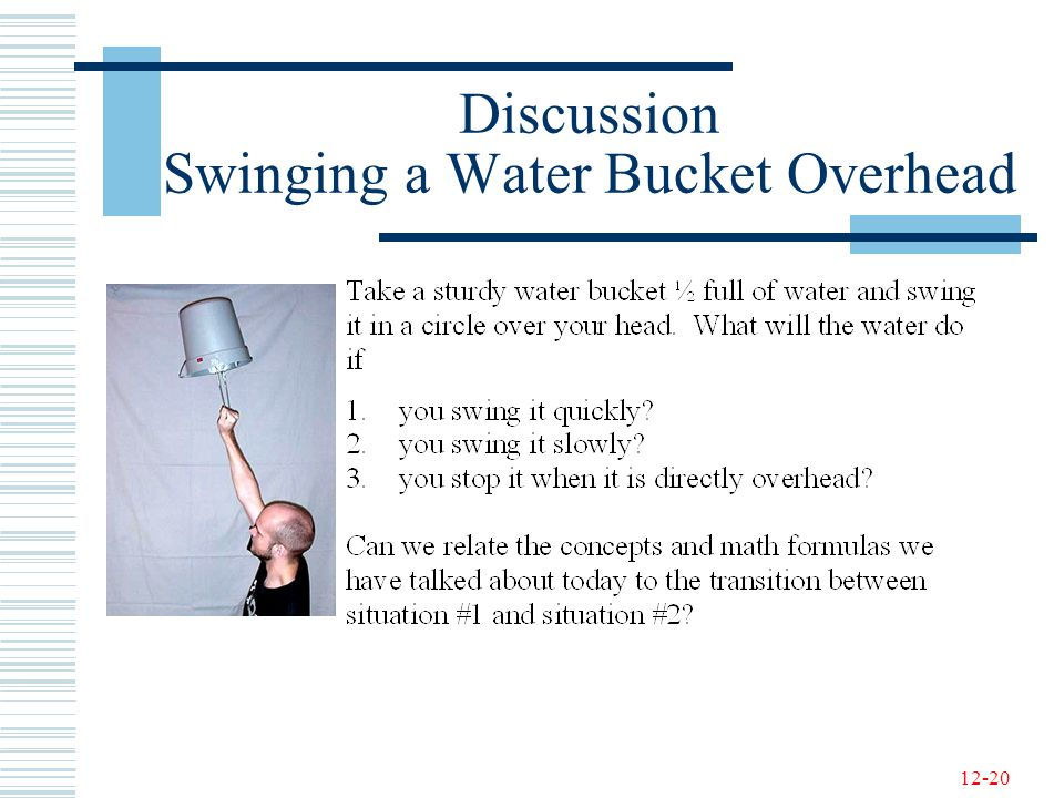 12-20 Discussion Swinging a Water Bucket Overhead