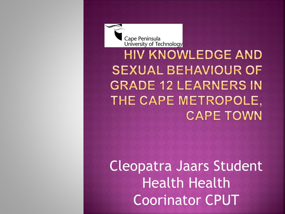 Cleopatra Jaars Student Health Health Coorinator CPUT
