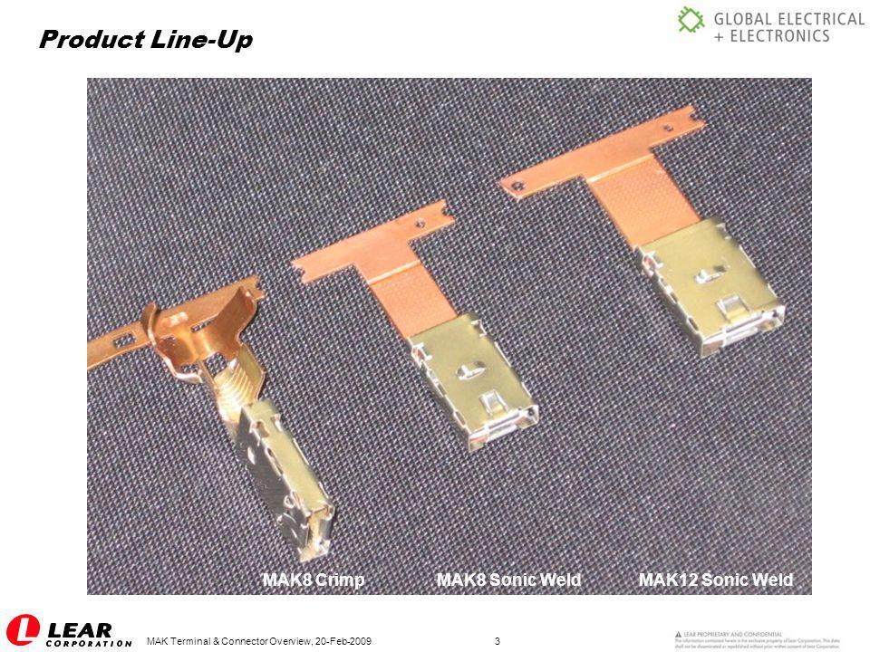 MAK Terminal & Connector Overview, 20-Feb-200914 Terminal Drawings: MAK8 Crimp