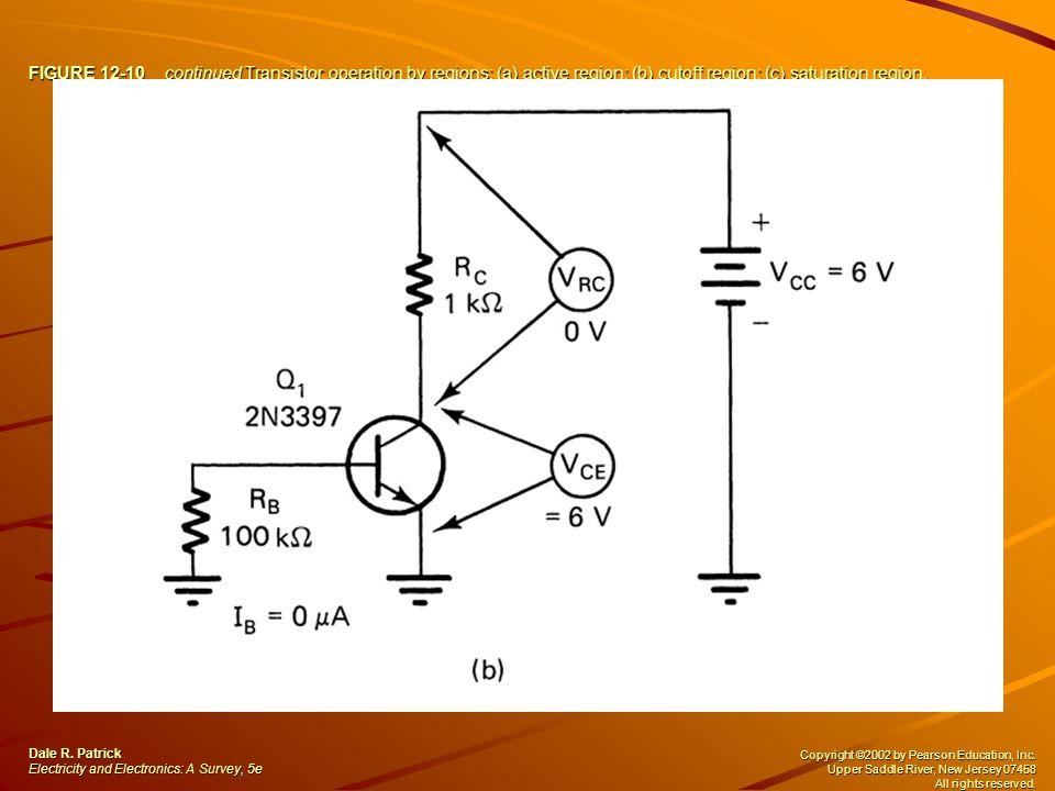 FIGURE 12-10 continued Transistor operation by regions: (a) active region; (b) cutoff region; (c) saturation region.