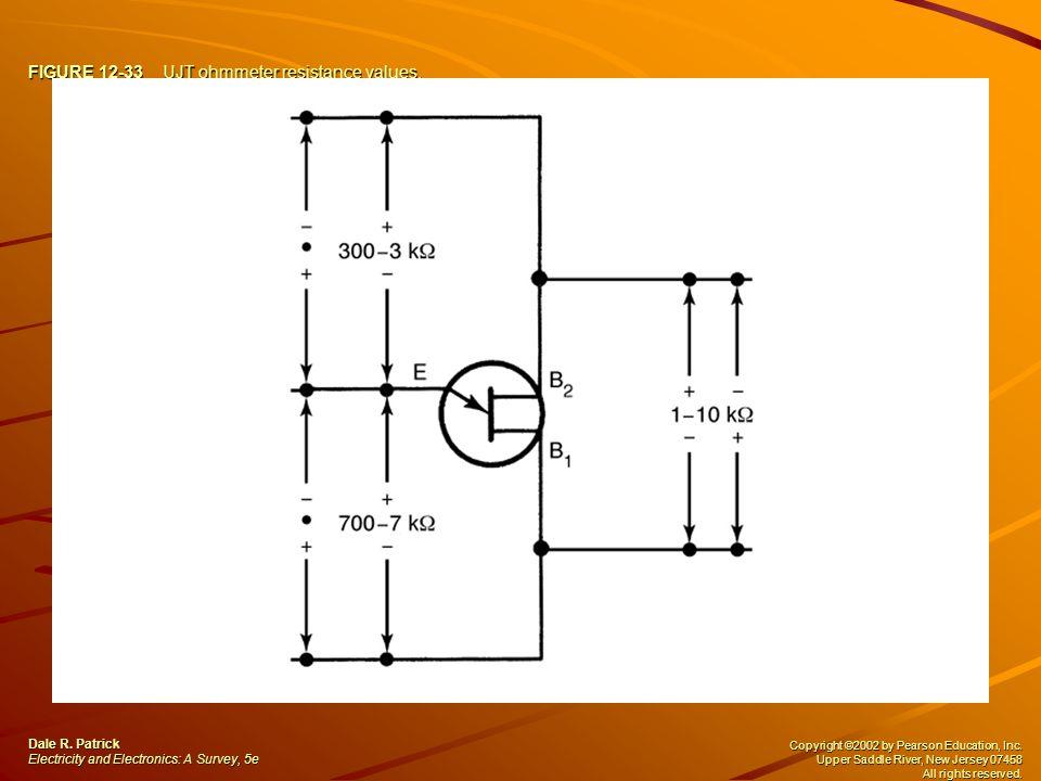 FIGURE 12-33 UJT ohmmeter resistance values.Dale R.