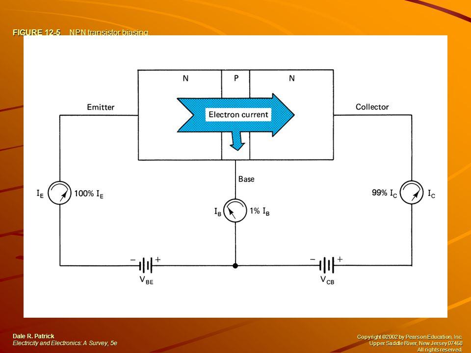 FIGURE 12-5 NPN transistor biasing.Dale R.