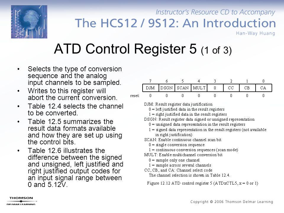 ATD Control Register 5 (1 of 3) Selects the type of conversion sequence and the analog input channels to be sampled. Writes to this register will abor