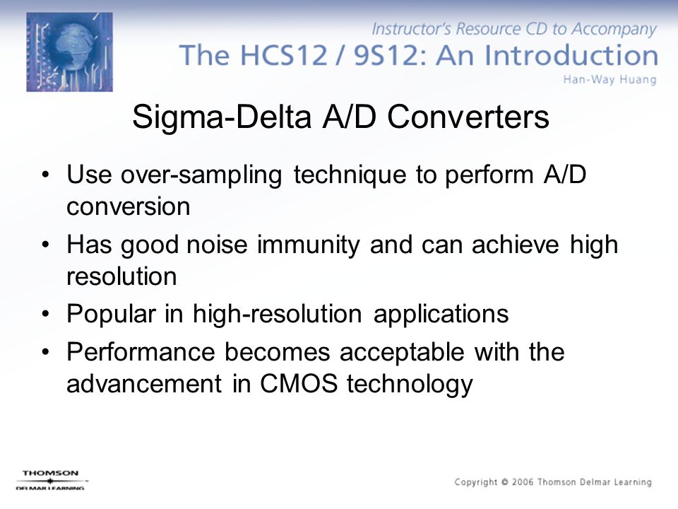 The A/D Conversion Time The A/D conversion time is the sum of the converter time and the sample time.