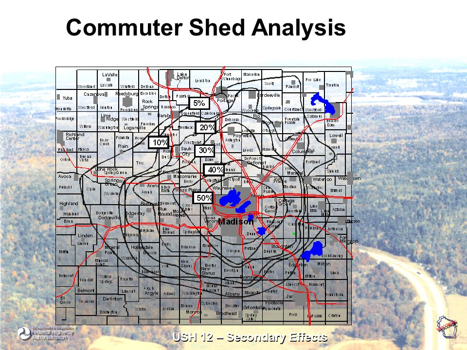 USH 12 – Secondary Effects Commuter Shed Analysis