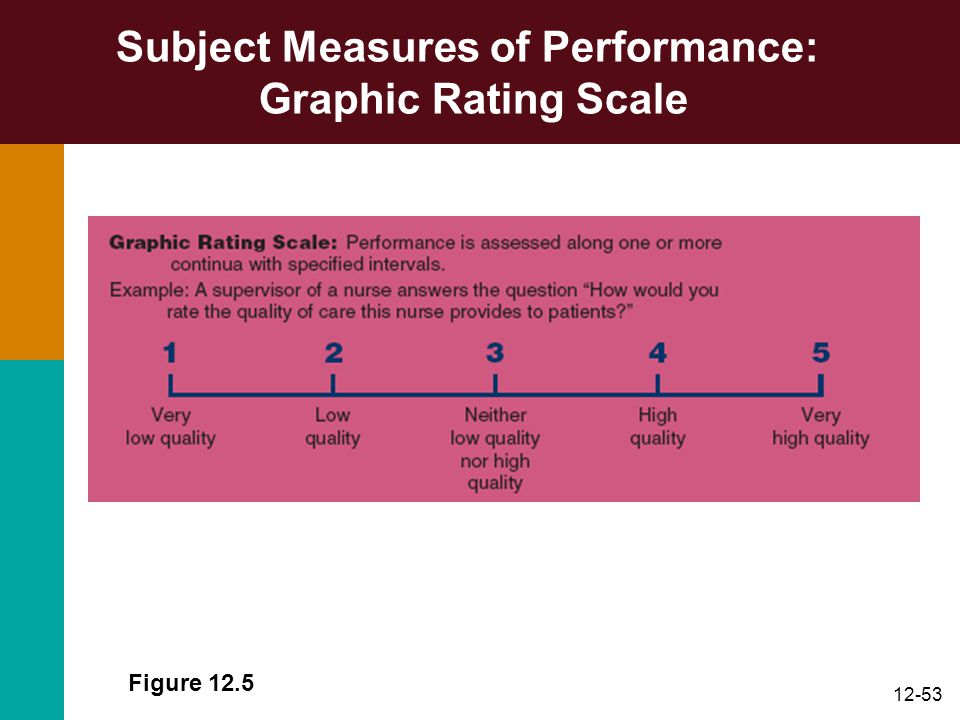 12-53 Subject Measures of Performance: Graphic Rating Scale Figure 12.5