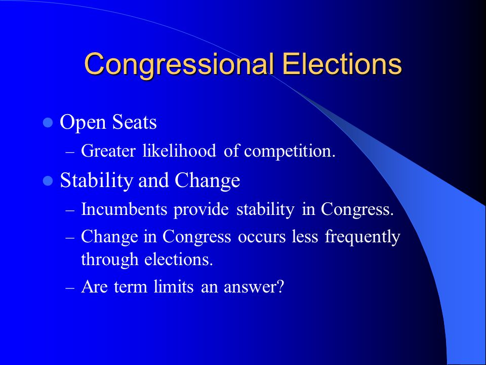 From Table 12.3 How Congress is Organized to Make Policy The House – 435 members, 2 year terms of office.