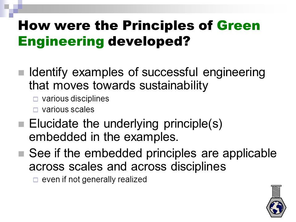 Principle 7 (cont.) Biodegradable plastics