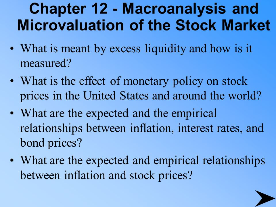 Chapter 12 - Macroanalysis and Microvaluation of the Stock Market How do the basic valuation variables differ among countries.