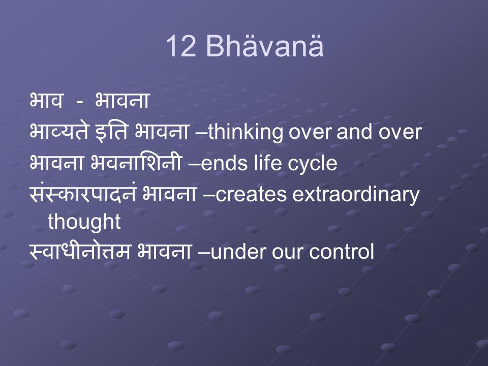 12 Bhävanä Why we need contemplation.
