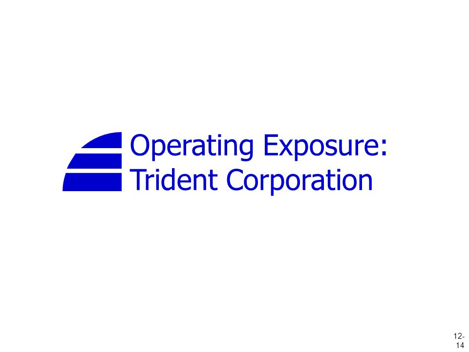 Operating Exposure: Trident Corporation 12- 14