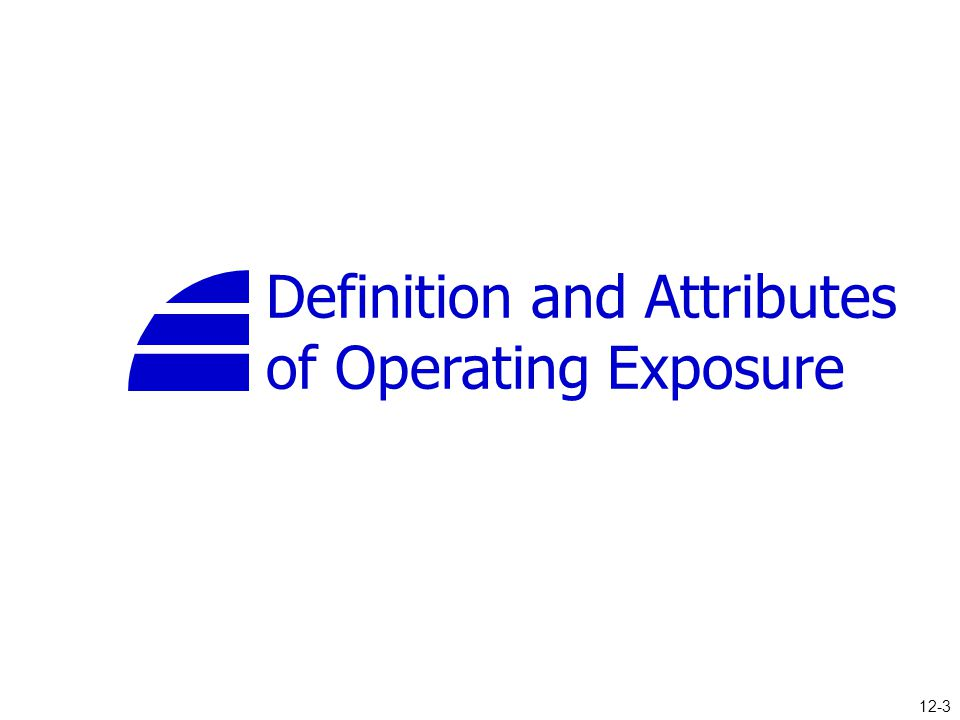 Definition and Attributes of Operating Exposure 12-3