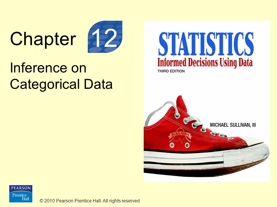 © 2010 Pearson Prentice Hall. All rights reserved Chapter Inference on Categorical Data 12