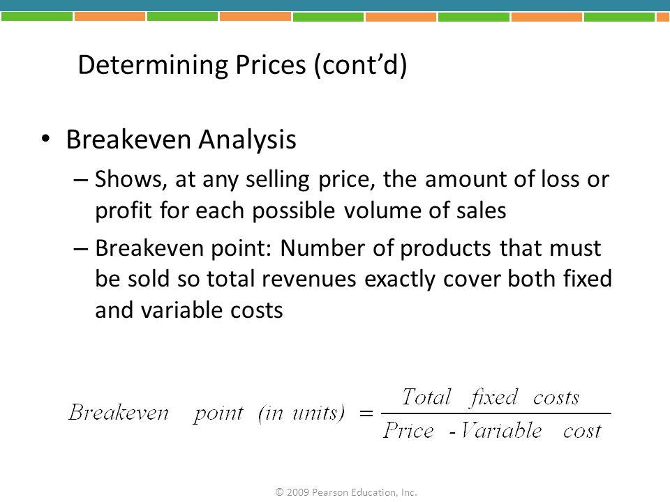 FIGURE 12.1 Breakeven Analysis © 2009 Pearson Education, Inc.