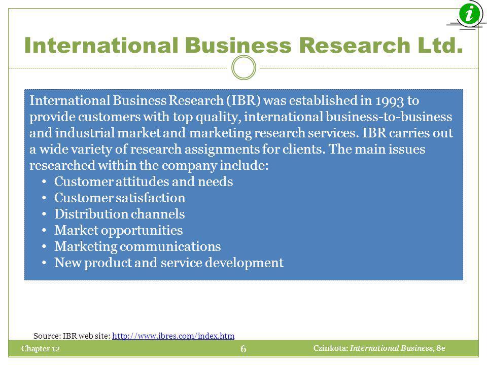 International Business Research Ltd.