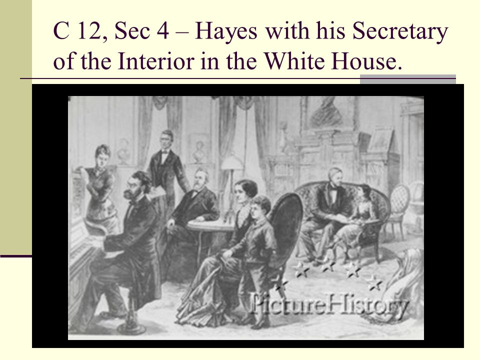 C 12, Sec 4 – Hayes with his Secretary of the Interior in the White House.