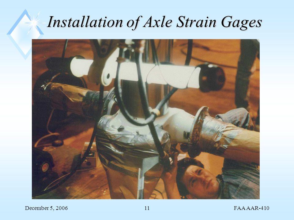 FAA AAR-410 December 5, 200611 Installation of Axle Strain Gages