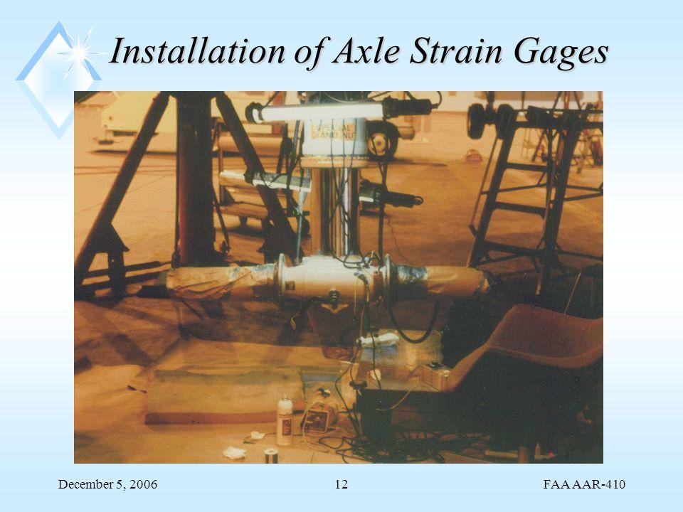 FAA AAR-410 December 5, 200612 Installation of Axle Strain Gages