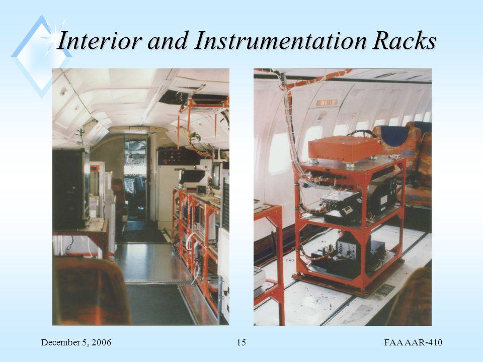 FAA AAR-410 December 5, 200615 Interior and Instrumentation Racks