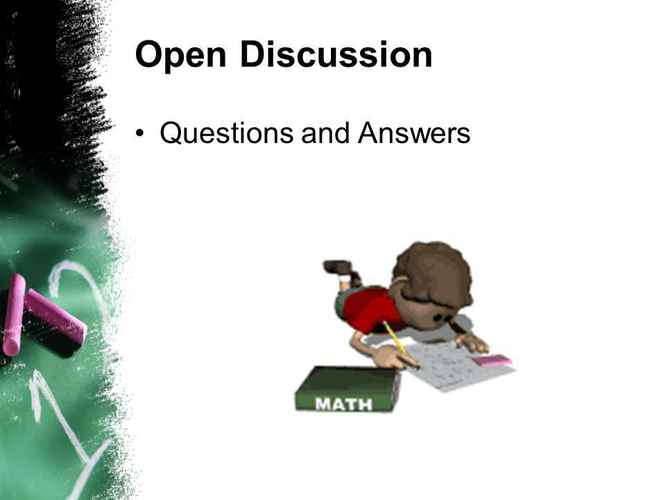 Open Discussion Questions and Answers