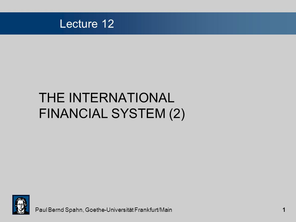 Paul Bernd Spahn, Goethe-Universität Frankfurt/Main21 The CFA-zone The CFA franc is the common currency of 14 countries in West and Central Africa, 12 of which are former French colonies.