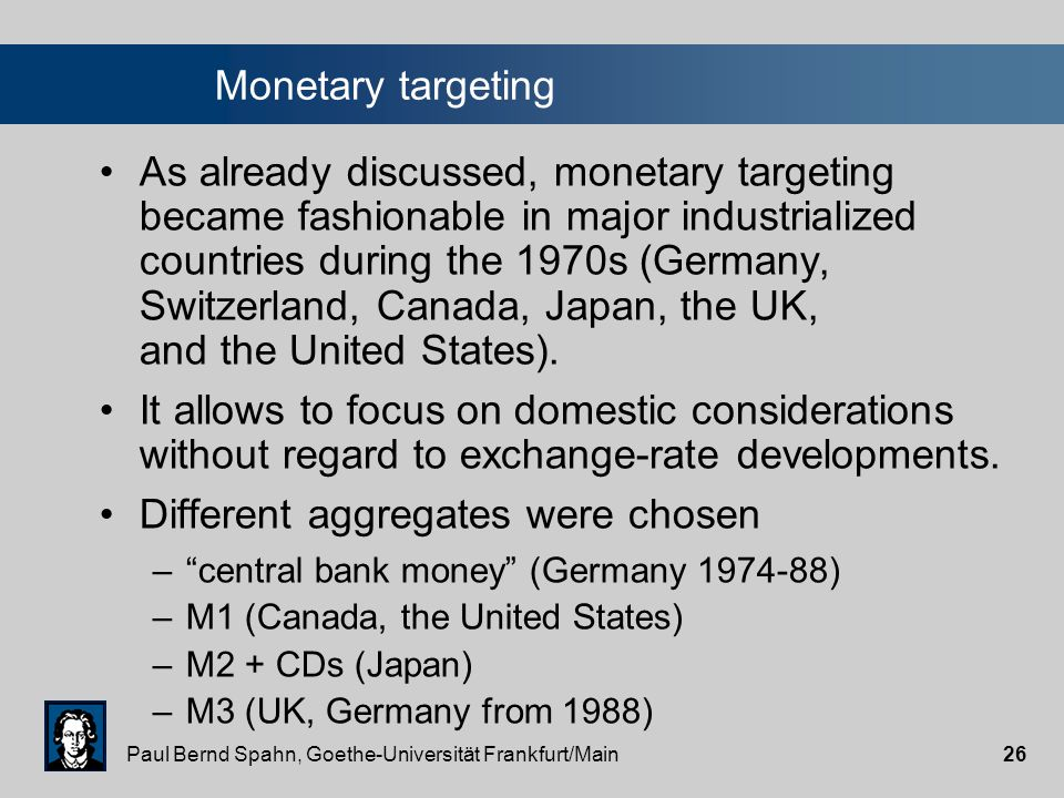 "Paul Bernd Spahn, Goethe-Universität Frankfurt/Main25 ""Dollarization"": Exits Even dollarization does not guarantee a permanent monetary anchoring. The"