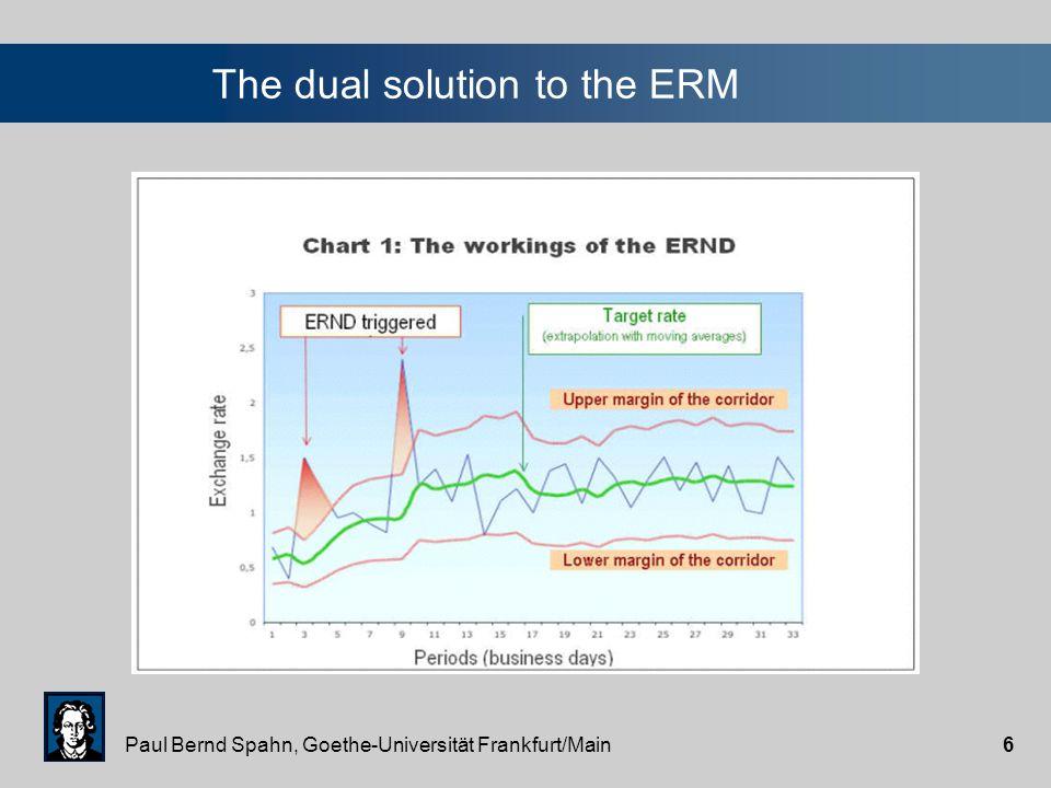 Paul Bernd Spahn, Goethe-Universität Frankfurt/Main6 The dual solution to the ERM