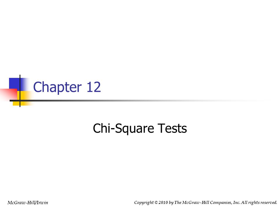 12-12 12.2 A Chi-Square Test for Independence Each of n randomly selected items is classified on two dimensions into a contingency table with r rows an c columns and let f ij = observed cell frequency for i th row and j th column r i = i th row total c j = j th column total Expected cell frequency for i th row and j th column under independence