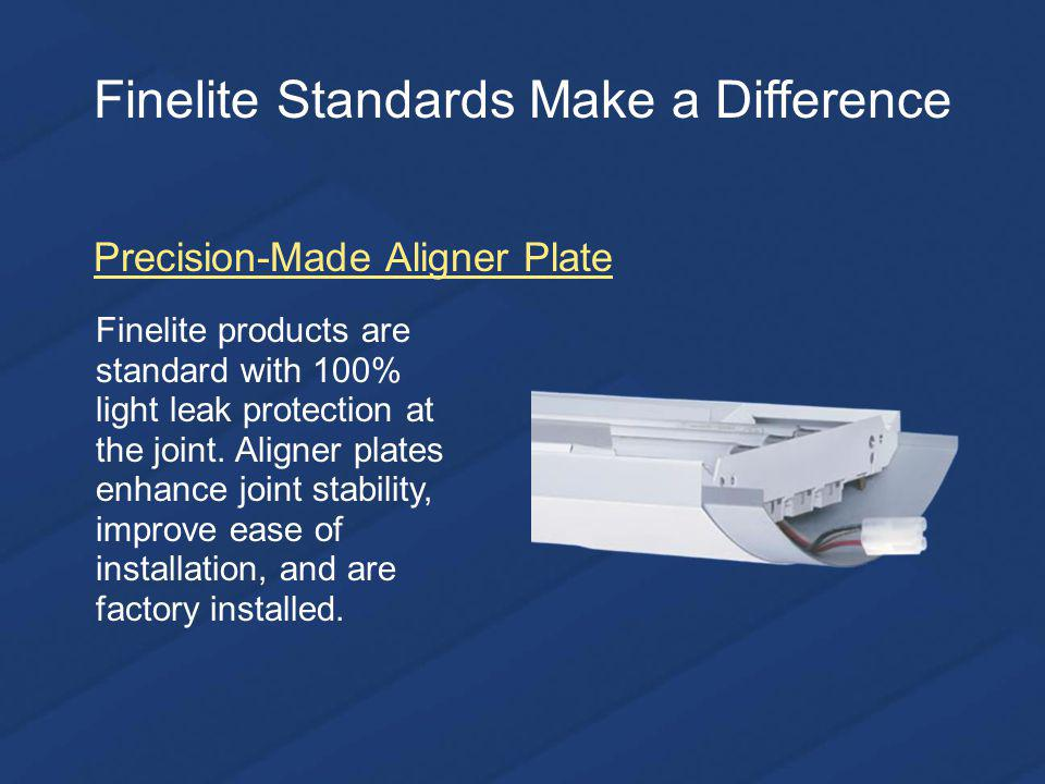 Finelite products are standard with 100% light leak protection at the joint.