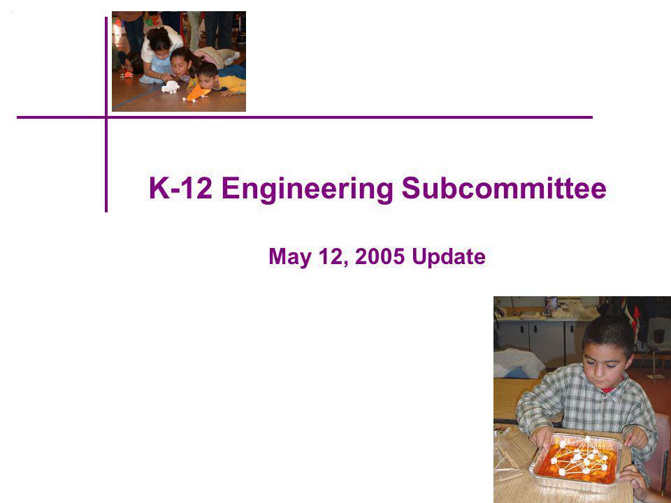 Subcommittee Members Janie Fouke – Michigan State University Pat Galloway – Nielsen-Wurster Grp/ASCE Gary May – GA Inst.