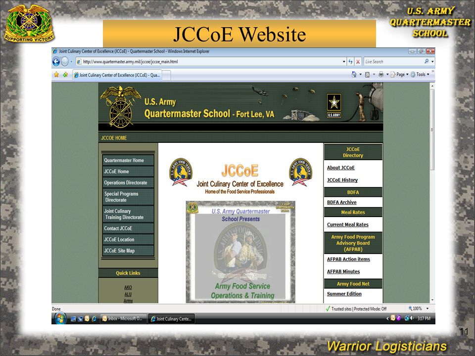 11 JCCoE Website