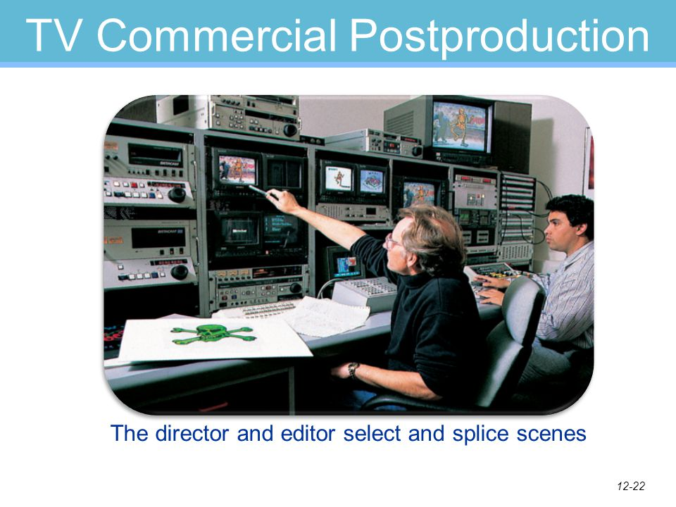 12-21 TV Commercial Production Postproduction Film editor Sound mixer Director Editing Mixing Print