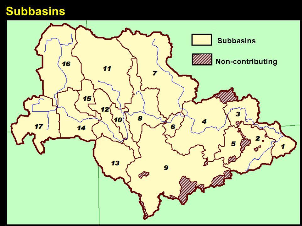 Subbasins Non-contributing