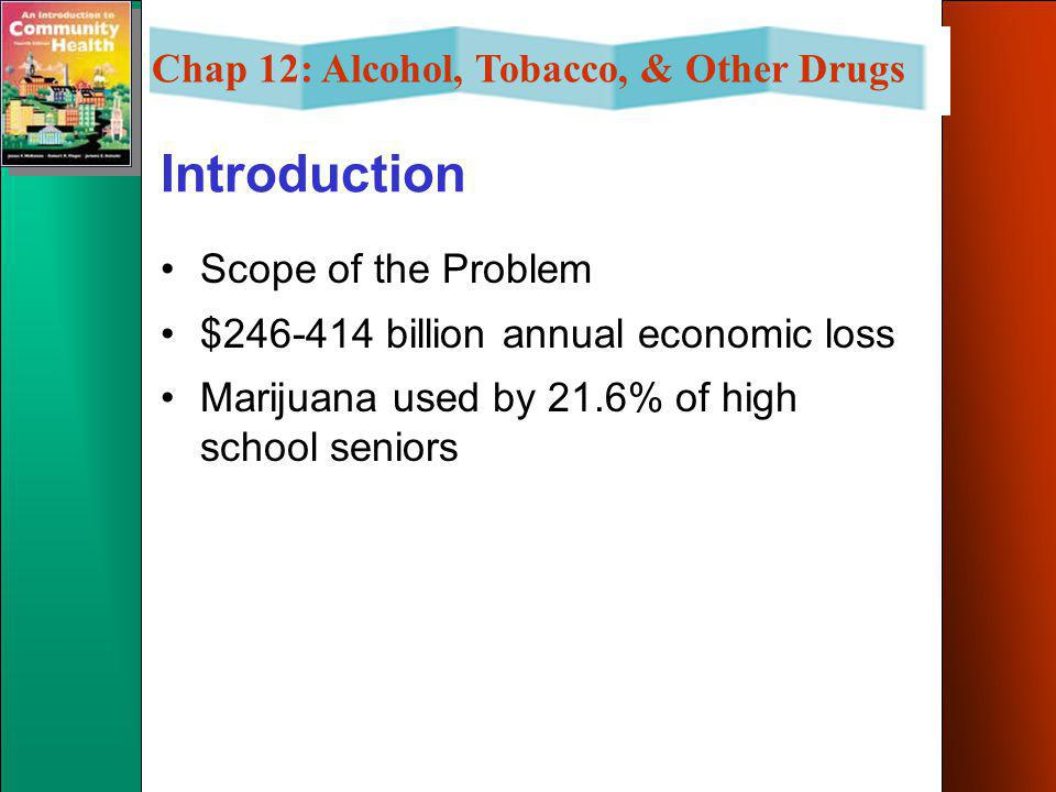 Chap 12: Alcohol, Tobacco, & Other Drugs Chapter Objectives List and describe some community and school drug abuse prevention programs. List the five