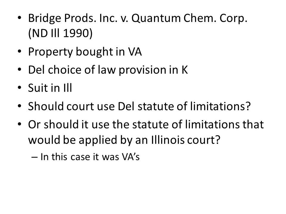 Bridge Prods. Inc. v. Quantum Chem. Corp.